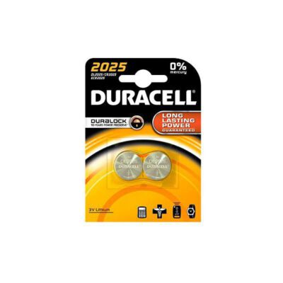 DURACELL ELECTRONICS 3V LM2025 CR2025 2τεμ Μπαταρία Λιθίου